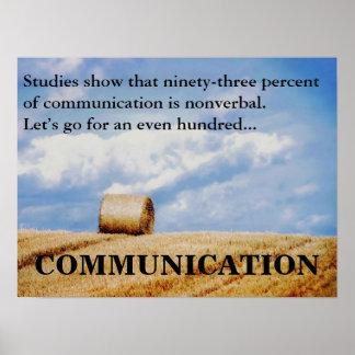 Låt oss förbättra vår kommunikationsexpertis 3 affischer