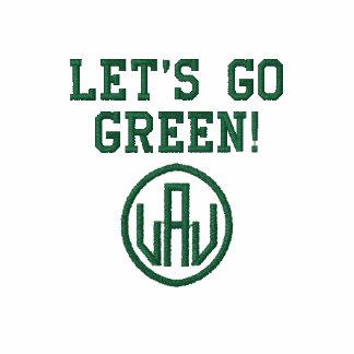Låt oss gå den grönt broderade manarT-tröja