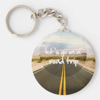 Låt oss gå på en vägresa nyckelringar