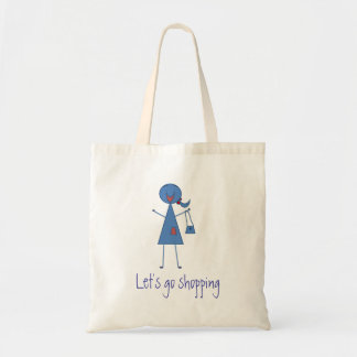 Låt oss gå shopping bag tygkasse