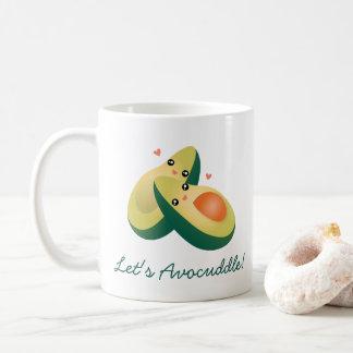 Låt oss humorn för den Avocuddle den roliga Kaffemugg