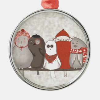 Låt oss klibba tillsammans julgransprydnad metall