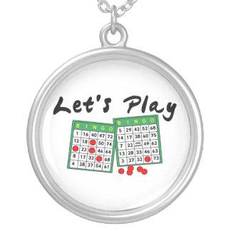 Låt oss leka Bingo Silverpläterat Halsband