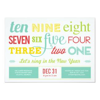 Låt oss räkna besegrar nyårsaftonpartyinbjudan 12,7 x 17,8 cm inbjudningskort