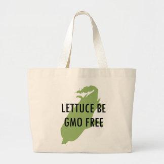 Låt oss vara grönsallat är den fria totot för GMO Jumbo Tygkasse