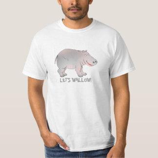 låt oss wallow flodhästt-skjortan t-shirts