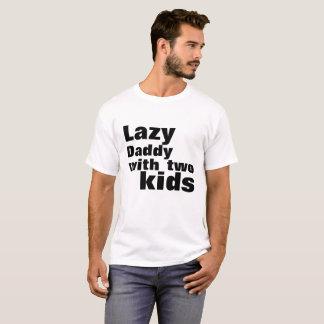 Lat pappa med två ungar t shirt