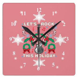 Låter den fula tröjan för snöflingor sten denna fyrkantig klocka