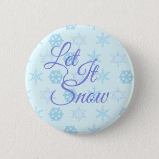 Låtet det var snöig jul standard knapp rund 5.7 cm