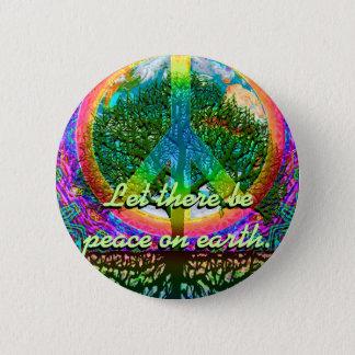 Låtet finns det fred på jord standard knapp rund 5.7 cm