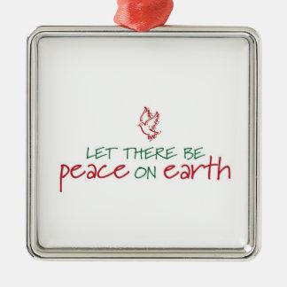 Låtet finns det fred på jordprydnad julgransprydnad metall