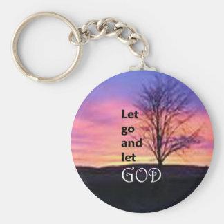 Låtet gå låta guden rund nyckelring