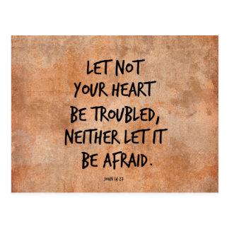 Låtet inte din hjärta var den besvärade vykort