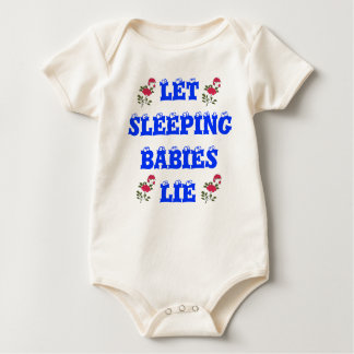Låtet sova ljuger babyar utslagsplatsen krypdräkt