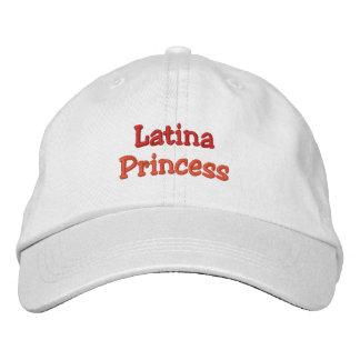 Latina Princess Lock Broderad Keps