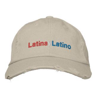 Latina y Latino Broderad Keps