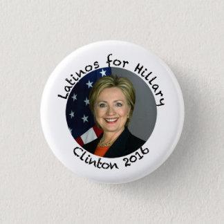 Latinos för Hillary Clinton - 2016 Mini Knapp Rund 3.2 Cm