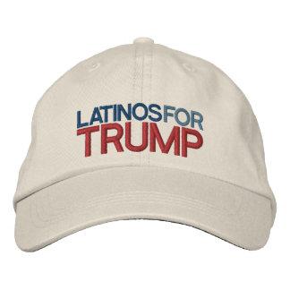 Latinos för trumf broderad keps