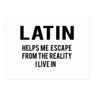 Latinsk hjälp mig flykt från verkligheten som jag vykort