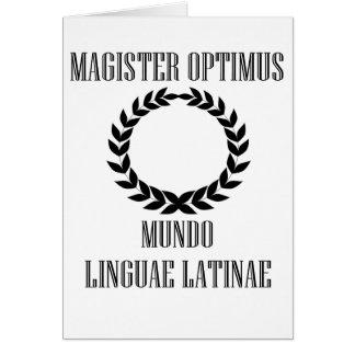 Latinsk lärare för världsmästare (manlign) hälsningskort