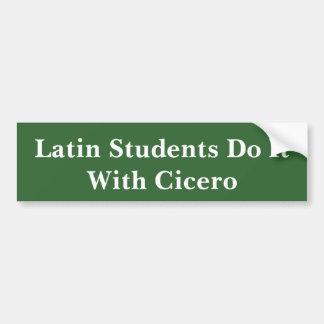 Latinska studenter och Cicero Bildekal