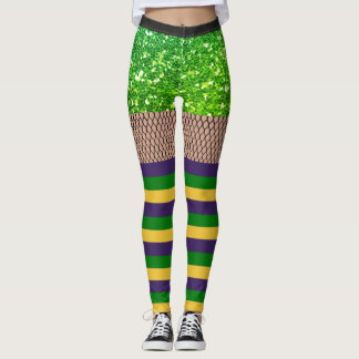 Lätt damasker för glitter för Mardi Gras Leggings