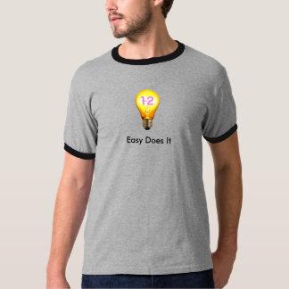 Lätt gör som det, kliver 12 anonyma t-shirts