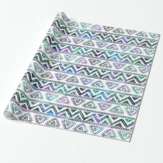 Lätt kulört stam- geometriskt mönster presentpapper