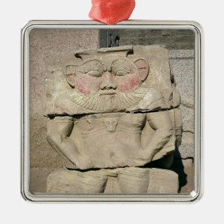 Lättnad av den egyptiska hushållguden, Bes Julgransprydnad Metall