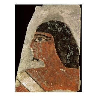 Lättnad av huvudet av en man vykort