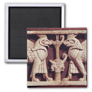 Lättnad som visar två griffons, från Arslan Tash Magnet