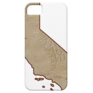 Lättnadskarta av Kalifornien iPhone 5 Fodraler