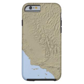 Lättnadskarta av Kalifornien och Nevada Tough iPhone 6 Skal