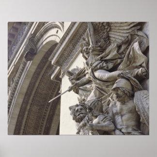 Lättnadsskulptur på Arc de Triomphe i Paris, Poster