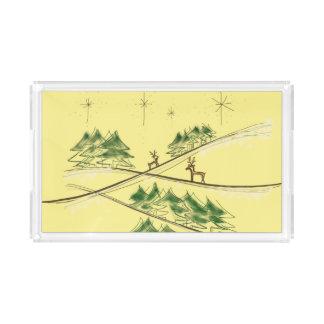 Lättroget skissa renen under julhimmel bricka