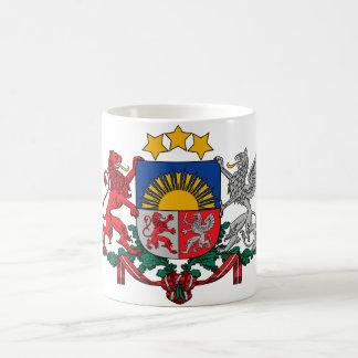 latvia emblem kaffemugg