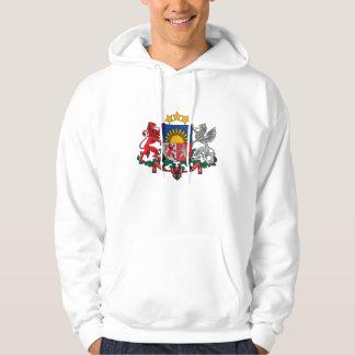 latvia emblem sweatshirt med luva