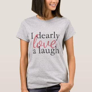 Laughter för kärlek för citationstecken för t-shirts