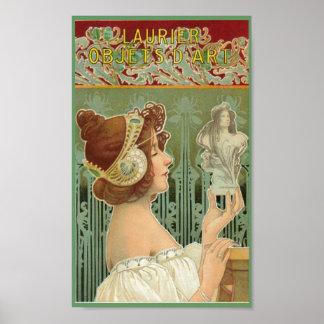 Laurier art nouveauaffisch poster