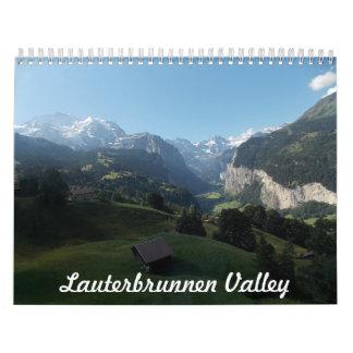 Lauterbrunnen dalSchweitz kalender