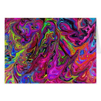 Lava av färger förbigår hälsningkortet OBS kort
