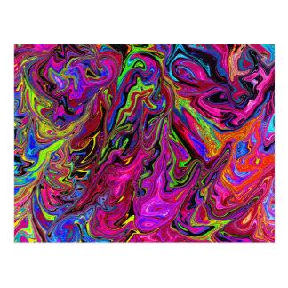 Lava av färger vykort