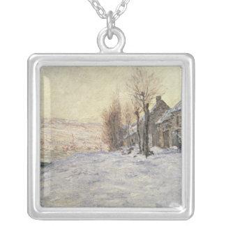 Lavacourt under snö, c.1878-81 silverpläterat halsband