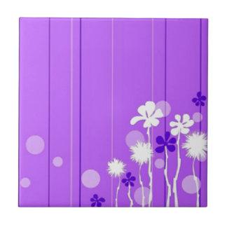 Lavendar blommor liten kakelplatta