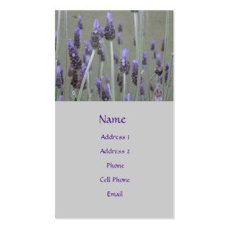 lavendar blommor - set av standard visitkort