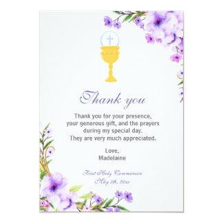 Lavendel för blommigt för kort för 12,7 x 17,8 cm inbjudningskort