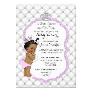 Lavendel för Princess flicka för diamantglitter 12,7 X 17,8 Cm Inbjudningskort