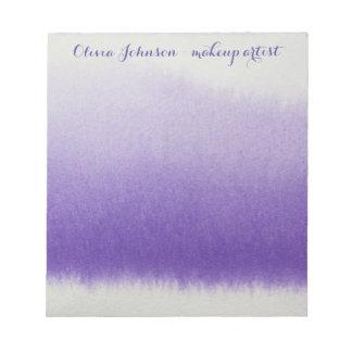 Lavendel för vattenfärg för Makeupkonstnär Anteckningsblock