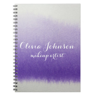 Lavendel för vattenfärg för Makeupkonstnär Anteckningsbok