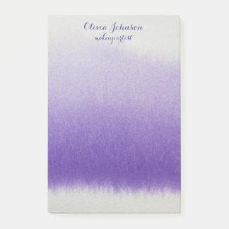 Lavendel för vattenfärg för Makeupkonstnär Post-it Lappar